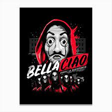 Bella Ciao Canvas Print in 2021 | Joker hd wallpaper, Day of the shirt,  Comic illustration