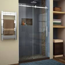dreamline enigma air 44 in to 48 in x 76 in frameless sliding dreamline shower doors