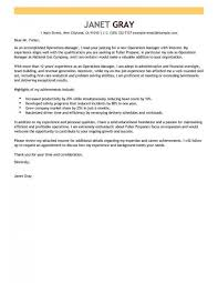 Cover Letter Livecareer Best Operations Manager Cover Letter Examples Livecareer Inside