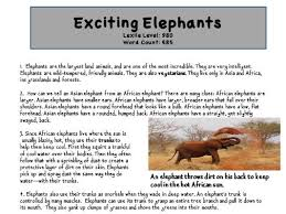 a level english language essay response language change by differentiated close reading of elephants article