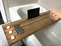 bathtub caddy wood image of home design 12