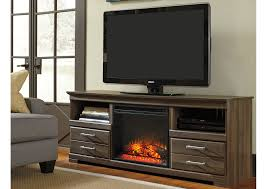 Brothers Fine Furniture Frantin TV Stand w LED Fireplace Insert