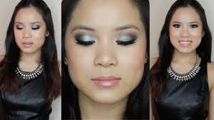 prom makeup black silver smokey eye for dark color dresses you