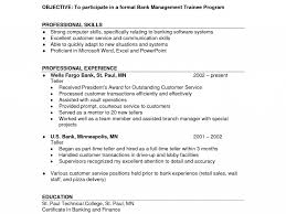 Interesting Bank Teller Resume Skills Good Looking Qualified
