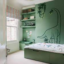 kids bedroom with dinosaurs