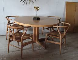 round extension dining table wood