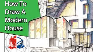 modern architectural drawings. Fine Architectural Learn To Draw A Modern House Step By  Architectural Drawing Theory  Lesson YouTube Inside Drawings