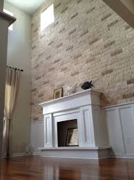 design ideas and faux stone wall fireplace faux rummy