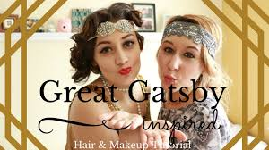 20s Hair Style great gatsby inspired makeup & hair tutorial long hair 20s 1117 by wearticles.com