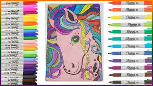 lisa frank coloring book rainbow horse lets color