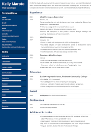 Web Developer Resume Examplesamples And 20 Writing Tips