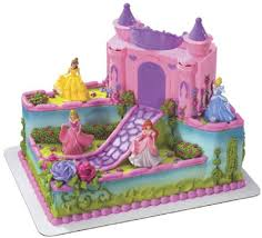 Twins Princess Castle Cake