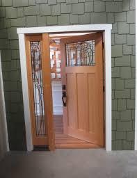 nice half glass door with iron trellis exterior door styles added bronze handle as well as subway grey accent brick as amazing entry door designs