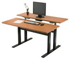 black desktop standing desk