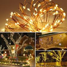 outdoor fairy lighting. Innotree Outdoor Fairy Lights Battery Operated With Timer Remote Dimmable, IP67 Waterproof 33Ft 100 LEDs White Starry String Bedroom Indoor Lighting E