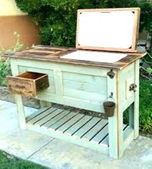 outdoor wood cooler rustic wooden stand plans patio custom old deck portimao cart box outdoor wood cooler