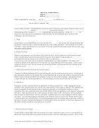 Free Printable Residential Lease Form Generic Tenancy Agreement ...