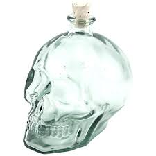 glass liquor decanter glass skull shaped liquor decanter 1 liter antique cut glass whisky decanter