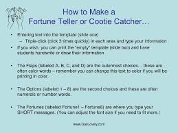 Ppt - Cootie Catcher Or Fortune Teller – To Fill-In On Computer ...