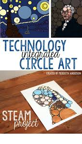 STEAM circle art project - Print the premade templates or learn how to create  your own