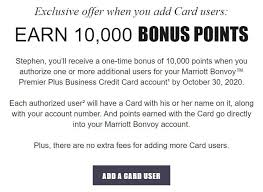 Adding an authorized user is different from creating a joint account. Expired Chase Marriott Cards Add Authorized User Get 5 000 To 10 000 Bonus Points Targeted