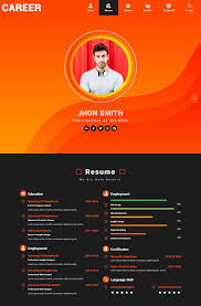 Demo Cv Format 45 Best Html Resume Cv Vcard Templates Free Premium Freshdesignweb