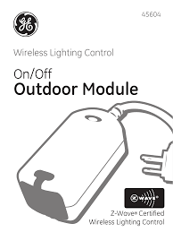 Ge 45604 Ge Z Wave Outdoor Module User Manual 14 Pages
