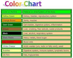 12 Unique Ion Cleanse Color Chart Stock Percorsi Emotivi Com