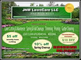 lawncare ad j m lawn care