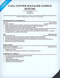Sample Resume For Call Center Call center resume for professional with relevant experience needed 18
