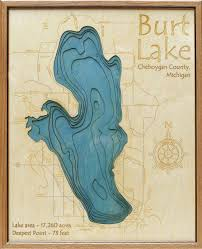 Burt Lake 3d Depth Map Grandpa Shorters Lake Photography