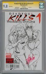 deadpool kills marvel universe 1 sketch variant cgc 9 8 signature series signed stan lee marvel ic book