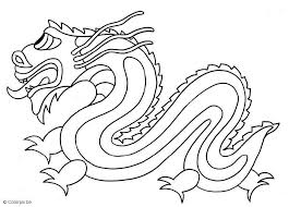 Chinese Dragon Faces Coloring Pages
