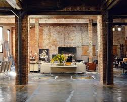 Favored Vintage Style Living Room Decorating Design With Exposed Brick Wall  Also Living Room Furnishing Set As Well As Great Lighting Decors Ideas