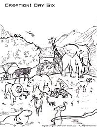 Creation Coloring Pages In Day Six Coloringstar