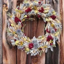 Интерьерный венок из <b>колосьев</b> и <b>сухоцветов</b>. Рождественский ...