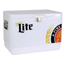 54 qt stainless steel miller lite ice chest cooler