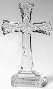 waterford waterford crystal figurine cross scalloped edge boxed