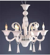 6 light coloured murano style glass chandelier