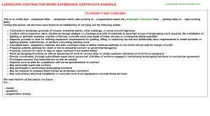 Landscape Contractor Free Career Templates Downloads Job Titles