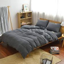 modern striped bedding set lux comfy