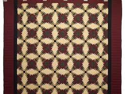 Pineapple Quilt -- magnificent specially made Amish Quilts from ... & ... Burgundy Tan And Earth Tones Pineapple Quilt Photo 2 ... Adamdwight.com