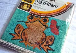 latch hook rugs froggie kit photo credit pumpkintruck
