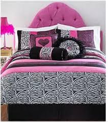 Girls WILD Pink Zebra Bed In A Bag Bedding Set
