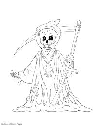Small Picture Scary Halloween Coloring Pages Scary Grim Reaper Coloring Pages