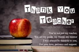 Teacher Message Thank You Messages For Teachers 365greetings Com