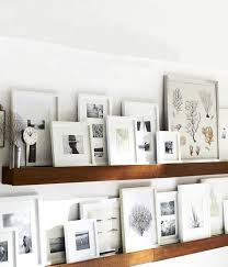 Floating Shelves For Picture Frames Adorable 32 Fresh Frame Ideas Gallery Walls Pinterest Shelves Layering