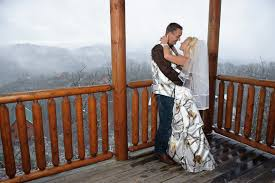 wedding in pigeon forge cabin cabin wedding