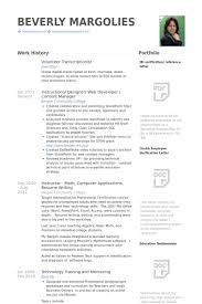Volunteer Resume Samples Visualcv Resume Samples Database
