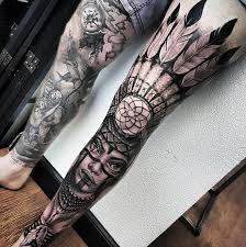Native Dream Catcher Tattoos 100 Dreamcatcher Tattoos For Men Divine Design Ideas 19